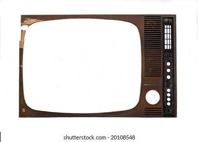 tv frame on white background