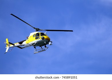 TV helicopter flying