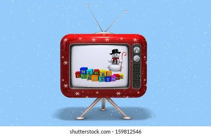 TV merry christmas -3D