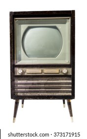 TV mid- 20th century. Is isolated on white