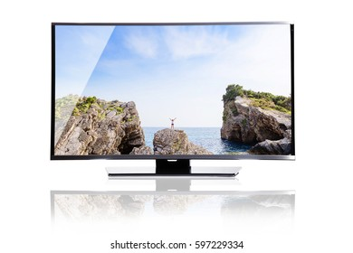 TV, monitor, screen isolated on white background.