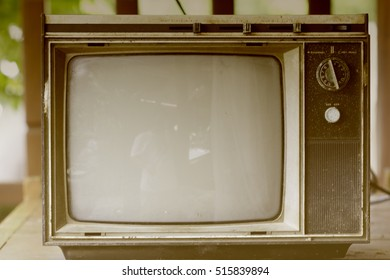 TV old vintage, black and white, antique collectors.