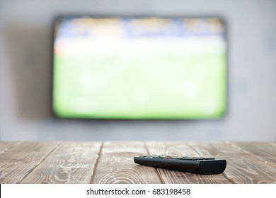 TV on the wall  and TV remote control