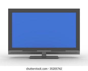 TV on white background. Isolated 3D image