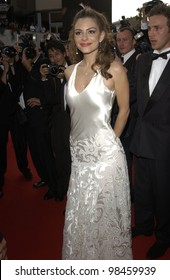 TV presenter MARIA MENOUNOS at the screening of The Matrix Reloaded at the Cannes Film Festival. 15MAY2003
