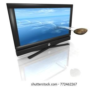 tv reality show 3D illustration