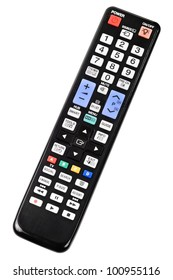TV remote control isolated on white background