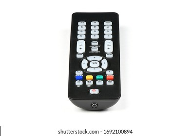 Tv remote control on white background. High resolution photo. Full depth of field.