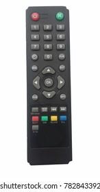 Tv Remote Control picture on white background.