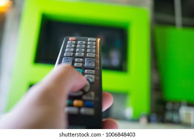 tv remote on hand