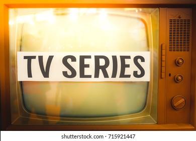 Tv series old tv label vintage
