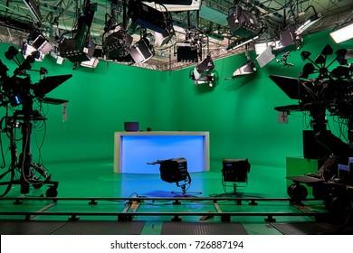 the TV Studio. video equipment