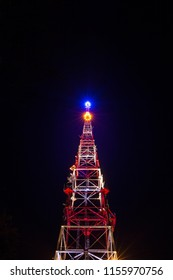 Tv Tower at night in Ivano-Frankivsk