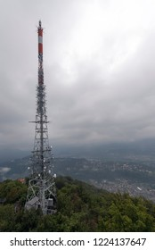 The TV tower on Monte San Salvatore. The Monte San Salvatore (912 m) is a mountain in the Lepontine Alps above Lake Lugano and the city of Lugano in Switzerland.
