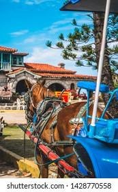 TVaradero, Cuba - March 19 2019: he restaurant Le Casa de Al and house of Al Capone, Varadero, Hicacos Peninsula, Matanzas Province, Cuba, Central America