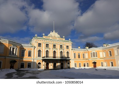 TVER, TVER OBLAST / RUSSIA - 24 FEBRUARY 2018: A royal palace in Tver. Travel Palace of the Empress Ekaterina II