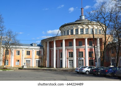 Tver, Russia - may 07.2017. the old building of river station on the waterfront Athanasius Nikitin