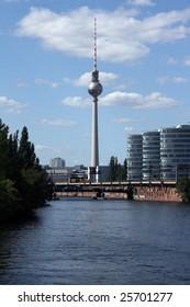 TV-tower in Berlin, Fernsehturm at Alexanderplatz