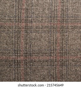 Tweed striped jacket cloth material fragment as a background texture composition