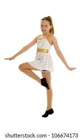 Tween Aged Jazz Dancer Performing in Costume