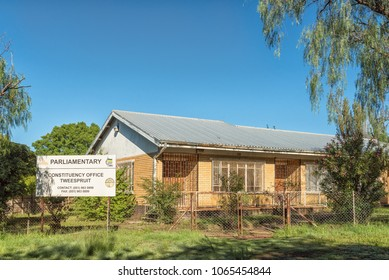 TWEESPRUIT, SOUTH AFRICA - MARCH 12, 2018: The African National Congress parliamentary constituency office in Tweespruit, a small town in the Free State Province of South Africa