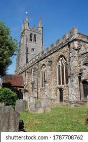 The Twelfth Century Church of Saint Mildred at Tenterden in Kent, England.