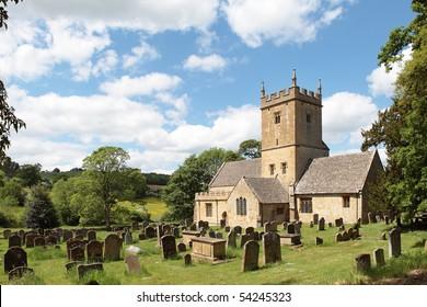 Twelfth century Cotswolds church (St Eadburgha's ) Broadway, England