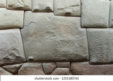 Twelve angled stone, an archeological artefact in Cusco, Peru