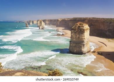 Twelve Apostles in Australia in the daytime