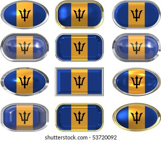 twelve buttons of the Flag of Barbados