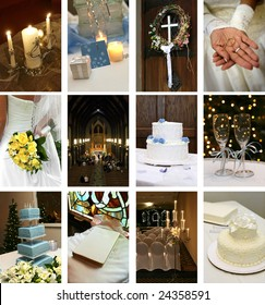 twelve small wedding themed images