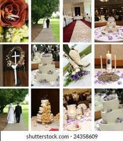 twelve small wedding themed images ideal for web pages