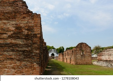 The twelve storage buildings or warehouse for royal possessions and merchandise for overseas trade,, located in Phra Narai Ratchaniwet, Lopburi, Thailand.