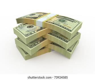 twenty dollar banknote (clipping path)