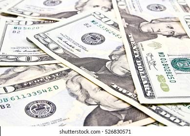 Twenty Dollar Bills for background