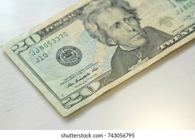 Twenty Dollars With One Note. 20 Dollars.