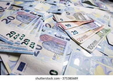 twenty euro bill background