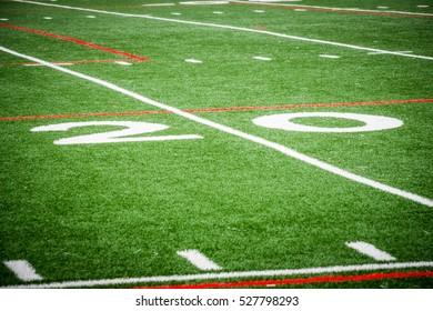 Twenty Yard Line on a Football Field