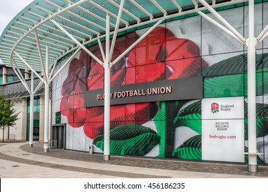 Twickenham, London, England on 20th July 2016 :The Rugby Football Union (RFU) is the governing body for rugby union in England. It was founded in 1871 and was the sport's international governing body.