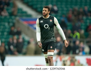 Twickenham, UK. 24th November 2018. Courtney Lawes of England warms up ahead of the Quilter International Rugby match between England and Australia