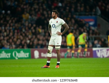 Twickenham, UK. 24th November 2018. England's Courtney Lawes during the Quilter International Rugby match between England and Australia