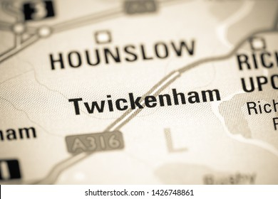 Twickenham. United Kingdom on a map