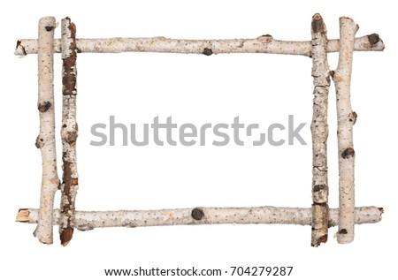 Twig Frame Birch Stock Photo (Edit Now) 704279287 - Shutterstock