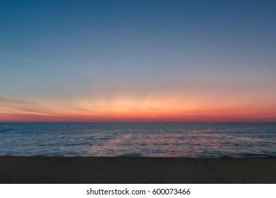 Twilight Dusk Phuket Thailand.
