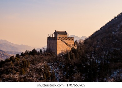 Twilight Of The Great Wall Of China Is The Collective Name Of A Series Of Fortification Systems Generally Built Across The Historical Northern Borders Of China. Image For Reports,Wallpaper. Etc