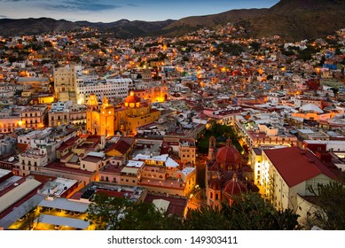 Twilight at Guanajuato, Mexico