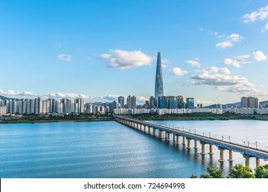 Twilight at han river seoul korea