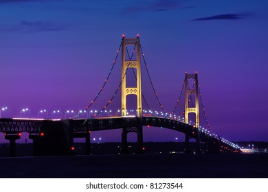 Twilight -  Mackinac Bridge, Mackinaw City