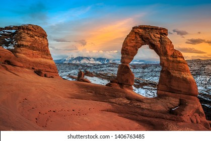 Twilight on Delicate Arch, Arches National Park Utah