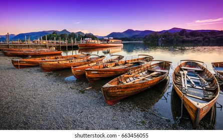 Twilight on Derwentwater, The Lake District, Cumbria, England